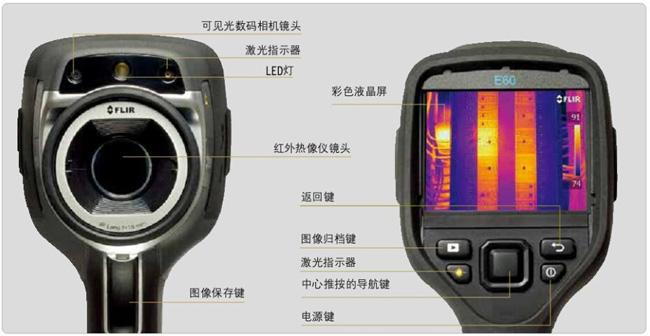 flir便携式红外热像仪可见光数码相机镜头和彩色液晶显示屏系统