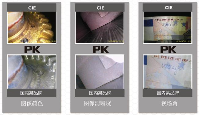30万像素的CMOS图像传感器让CIE汽车内窥镜的图像显示效果清晰、画质感更好。