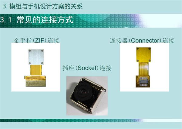 内窥镜模组常见的连接方式:金手指(ZIF)连接、连接器(connector)连接、插座(socket)连接